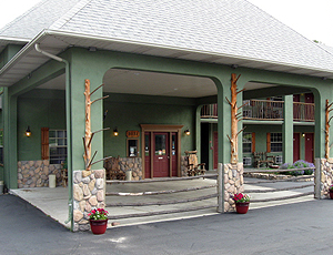 Entrance to the Lodge